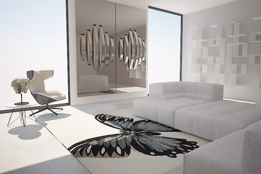 private apartment butterfly adasdesign. Black Bedroom Furniture Sets. Home Design Ideas